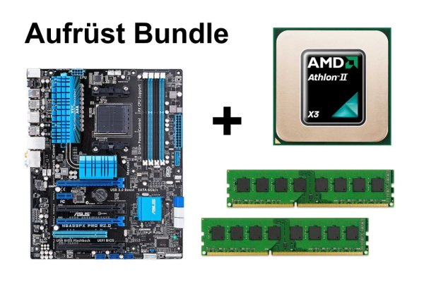 Aufrüst Bundle - ASUS M5A99FX Pro R2.0 + Athlon II X3 455 + 4GB RAM #103383