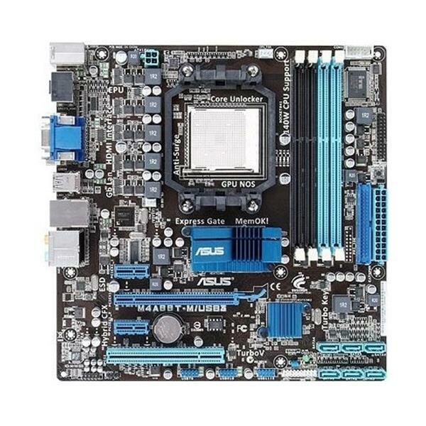 ASUS M4A88T-M/USB3 AMD 880G Mainboard Micro ATX Sockel AM3   #6736