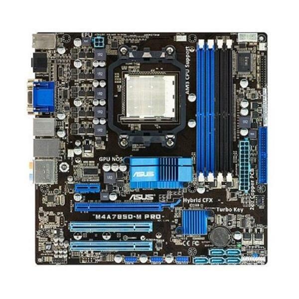 ASUS M4A785D-M Pro AMD 785G Mainboard Micro ATX  Sockel AM2 AM2+ AM3   #28408