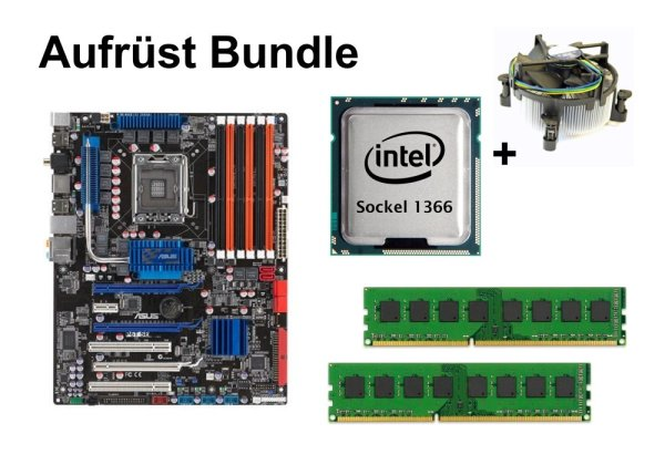 Aufrüst Bundle - ASUS P6T SE + Intel Core i7-940 + 8GB RAM #59698