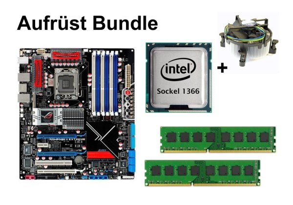 Aufrüst Bundle - Rampage II Extreme + Intel i7-965 + 16GB RAM #100293