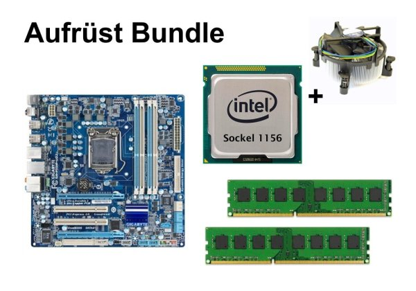 Aufrüst Bundle - Gigabyte GA-P55M-UD2 + Intel i7-860 + 4GB RAM #80621