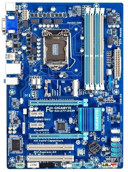 Gigabyte GA-Z77-DS3H Rev.1.1 Intel Z77 Mainboard ATX Sockel 1155   #33096