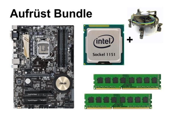 Aufrüst Bundle - ASUS Z170-K + Intel Core i5-7500T + 4GB RAM #140032