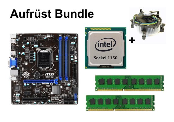 Aufrüst Bundle - MSI B85M-E45 + Intel i7-4771 + 16GB RAM #91136