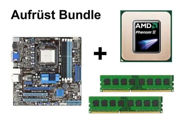Aufrüst Bundle - ASUS M4A785T-M + AMD Phenom II X4 925 + 4GB RAM #123392