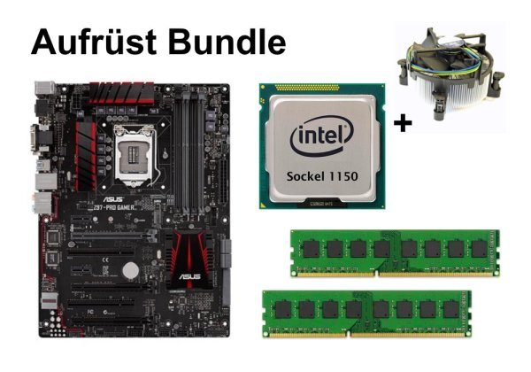 Aufrüst Bundle - ASUS Z97-PRO GAMER + Intel i3-4160T + 16GB RAM #86018
