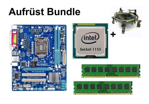 Aufrüst Bundle - Gigabyte H61M-S2PV + Intel i5-3470 + 4GB RAM #89602