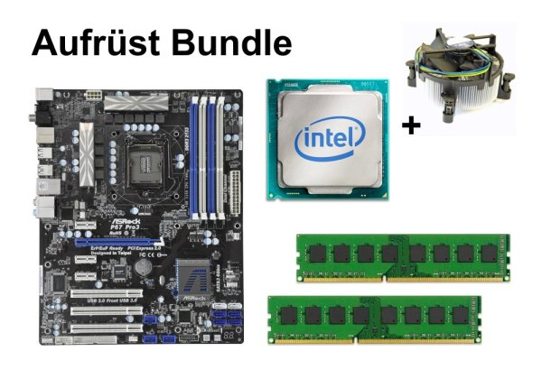 Aufrüst Bundle - ASRock P67 Pro3 + Xeon E3-1230 v2 + 4GB RAM #98050
