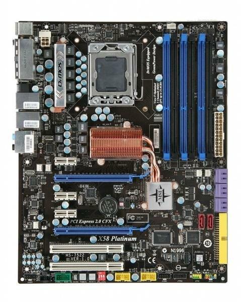 MSI X58 Platinum MS-7522 Intel X58 Mainboard ATX Sockel 1366   #6915