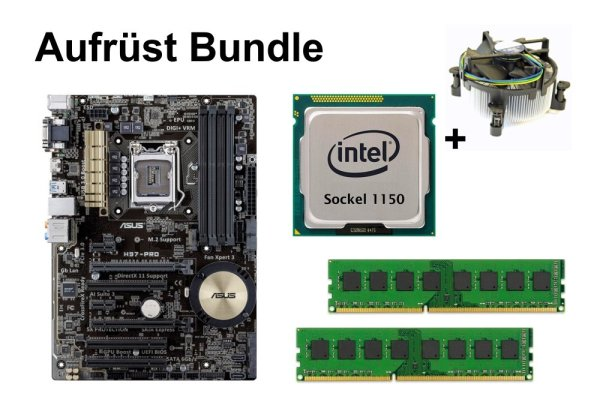 Aufrüst Bundle - ASUS H97-PRO + Intel i5-4670 + 4GB RAM #94979