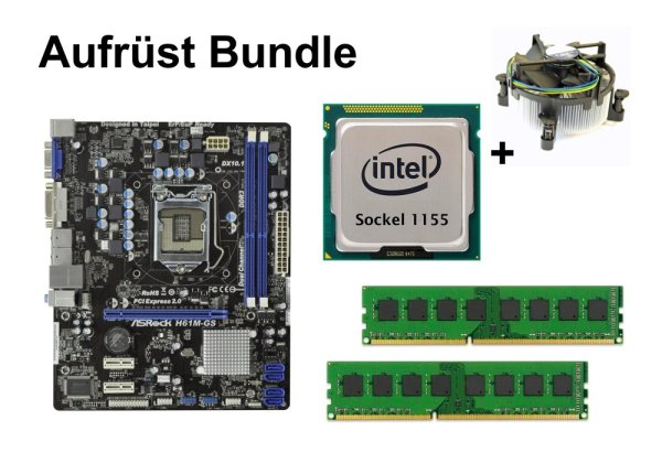 Aufrüst Bundle - ASRock H61M-GS + Intel Xeon E3-1245v2 + 4GB RAM #100867