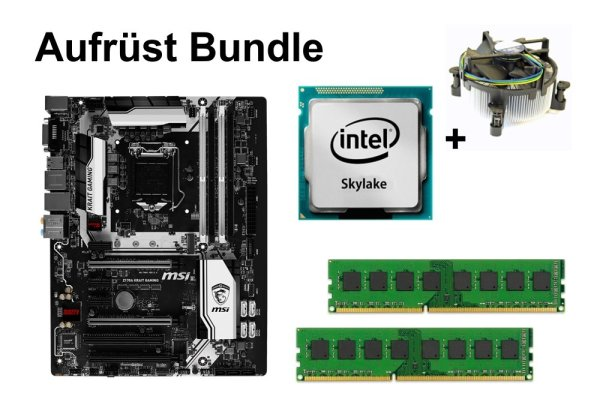 Aufrüst Bundle MSI Z170A KRAIT GAMING + Intel Core i5-6600K + 16GB RAM #113155