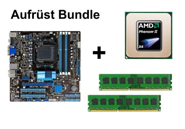 Aufrüst Bundle - ASUS M5A78L-M/USB3 + Phenom II X4 955 + 16GB RAM #58883
