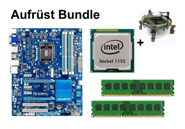Aufrüst Bundle - Gigabyte H77-D3H + Xeon E3-1230 + 4GB RAM #104196