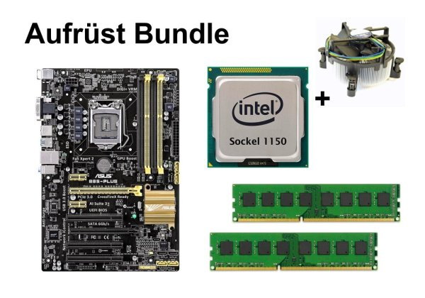 Aufrüst Bundle - ASUS B85-Plus + Intel Core i5-4690 + 4GB RAM #116228