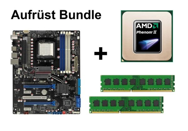 Aufrüst Bundle - Crosshair III Formula + Phenom II X4 945 + 16GB RAM #66309