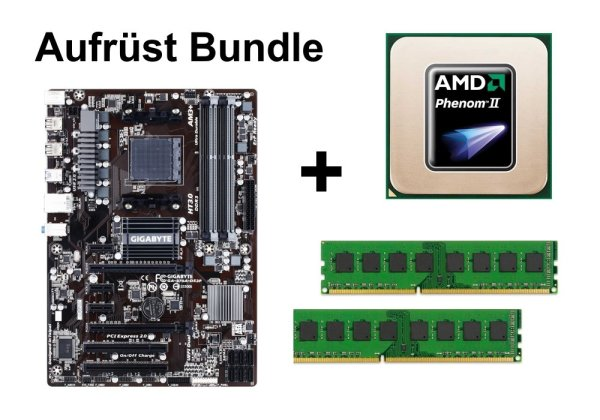 Aufrüst Bundle - Gigabyte 970A-DS3P + Athlon II X4 645 + 4GB RAM #99589