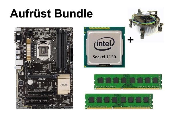 Aufrüst Bundle - ASUS Z97-P + Intel i3-4150 + 16GB RAM #92422