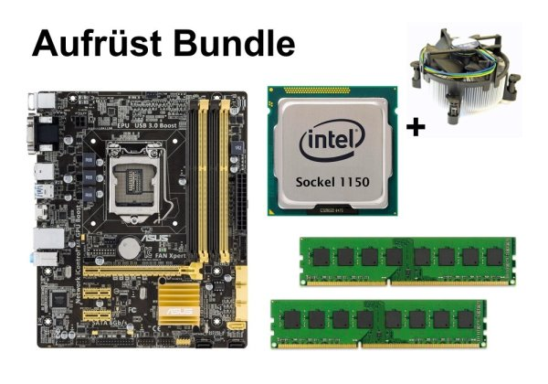 Aufrüst Bundle - ASUS B85M-G + Intel i7-4770S + 4GB RAM #72967