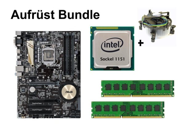 Aufrüst Bundle - ASUS H170-Pro + Intel Celeron G3920 + 16GB RAM #121607