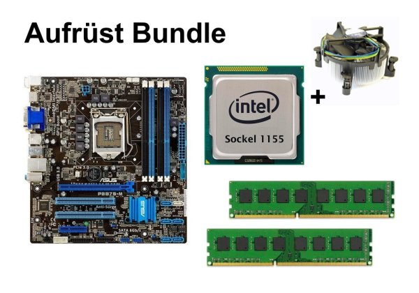 Aufrüst Bundle - ASUS P8B75-M + Intel i3-3220T + 8GB RAM #76296