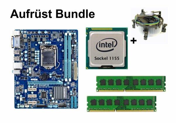Aufrüst Bundle - Gigabyte GA-H61M-D2-B3 + Pentium G620 + 4GB RAM #91656