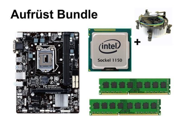 Aufrüst Bundle - Gigabyte B85M-D2V + Xeon E3-1225 v3 + 8GB RAM #94473