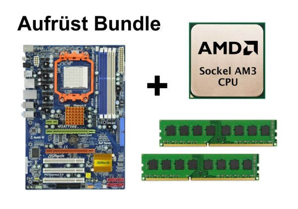 Aufrüst Bundle - ASRock M3A770DE + Phenom II X2 555 + 16GB RAM #95498