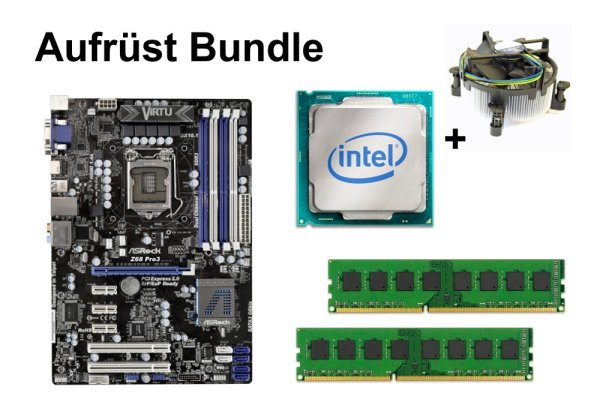 Aufrüst Bundle - ASRock Z68 Pro3 + Pentium G2030 + 16GB RAM #99082