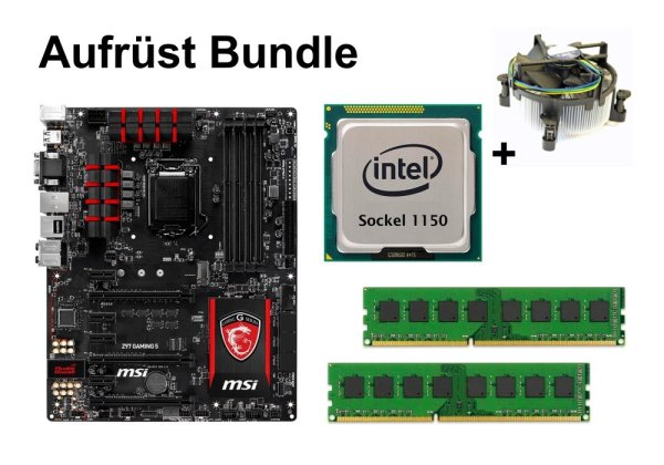 Aufrüst Bundle - MSI Z97 GAMING 5 + Intel i7-4790 + 6GB RAM #63499