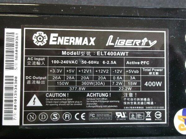 Enermax Liberty 400W (ELT400AWT) ATX Netzteil 400 Watt modular   #27148