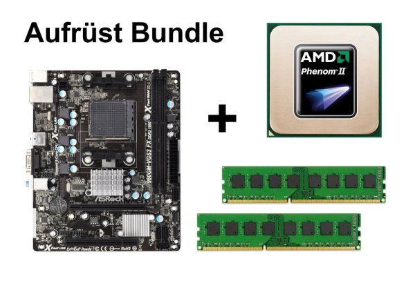 Aufrüst Bundle - ASRock 960GM-VGS3 + Phenom II X2 550 + 16GB RAM #75278