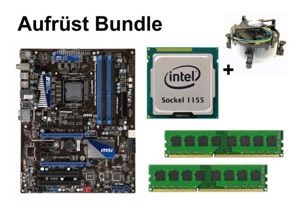 Aufrüst Bundle - MSI P67A-GD53 + Intel i7-2600 + 16GB RAM #98832