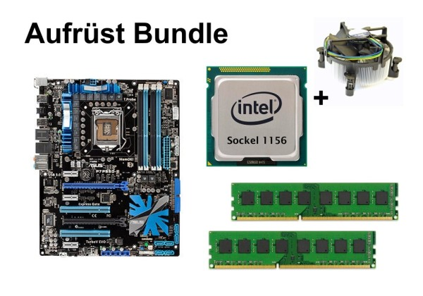 Aufrüst Bundle - ASUS P7P55D-E + Intel i5-760 + 16GB RAM #80402