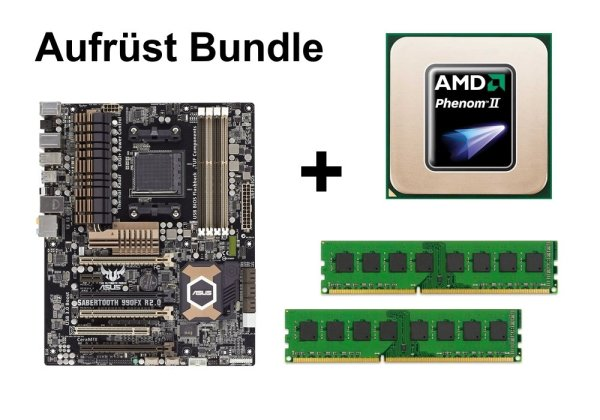 Aufrüst Bundle - SABERTOOTH 990FX R2.0 + Phenom II X6 1075T + 8GB RAM #56594