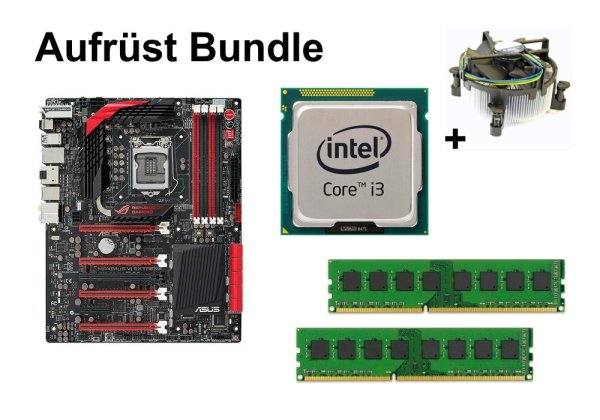 Aufrüst Bundle - Maximus VI Extreme + Intel Core i3-4330 + 4GB RAM #111126