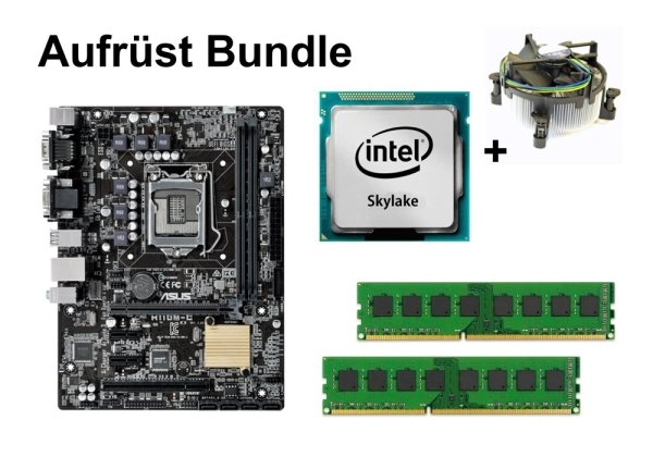 Aufrüst Bundle - ASUS H110M-C + Intel Core i3-6320 + 4GB RAM #112410